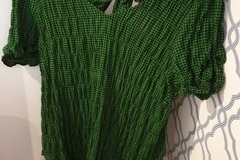 Selling: Green Gingham Top