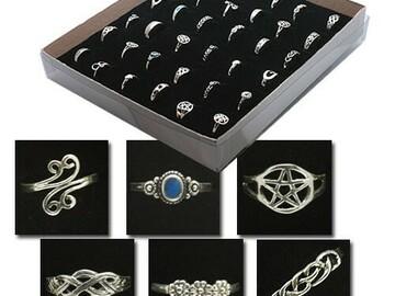 Buy Now: 36 pcs- Genuine Sterling Silver Rings in display-- $3.99 pcs!