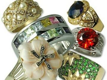 Buy Now: 10 pcs-- Ladies Sterling Silver Estate Rings-- $9.99 each!