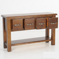 For Sale: FELTON Rustic Solid Wood 4 Drawer Console Table