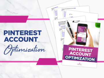 Offering online services: Pinterest Account Optimization