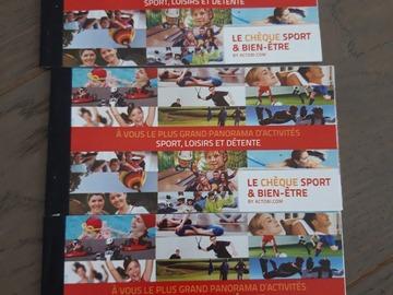 Vente: Chèque Sports et Bien-être (75€)