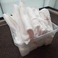 Ilmoitus: Valkoisia fleece-huopia 10 kpl