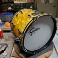 Selling with online payment: Gretsch USA Custom 14x18 b.d. yellow satin flame like new $1k obo