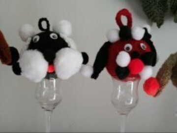 Selling with online payment: Knitted Christmas Ornaments
