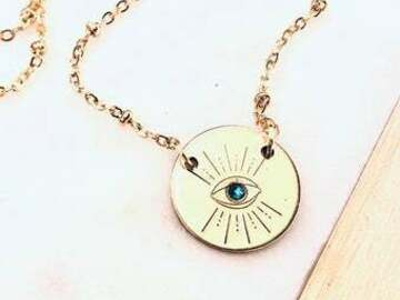 Selling with online payment: Evil Eye Necklace