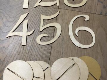 Ilmoitus: pöytänumerot 1-6