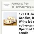 Ilmoitus: Pieni Led kynttilä x 50