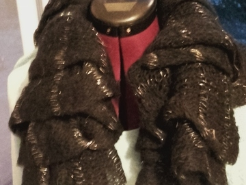 Vente au détail: Echarpe en laine noire