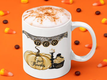 Selling with online payment: 11oz Boo Halloween Coffee Mug