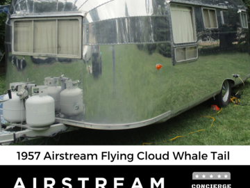 Trailer Sales: 1956 / 1957 Airstream Flying Cloud - 13 Panel / Whale Tail