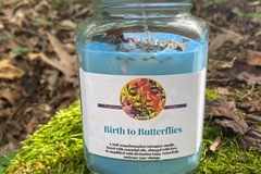 Selling with online payment: Birth to Butterflies intention candle