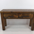 For Sale: WOODGATE Farm Style Solid Wood 2 Drawer Console Table