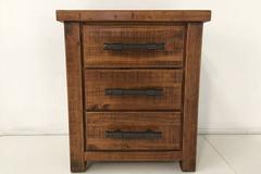 For Sale: WOODGATE Solid Wood 3 Drawer Bedside Table