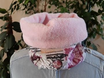 Vente au détail: Snood tour de cou rose vintage