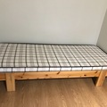 Myydään: Ikea bed with spring mattress and cover
