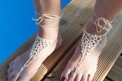 Vente au détail: Bijou de pied crème