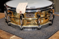 Selling with online payment: Pearl Brass Sensitone 5x14 Snare Drum very good condition