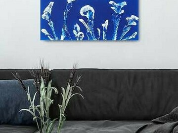 Selling with online payment: Minimalist Flower Painting