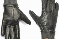 Buy Now: HONNS Women's MaryJane Gloves Crocodile Noir (European Lambskin P