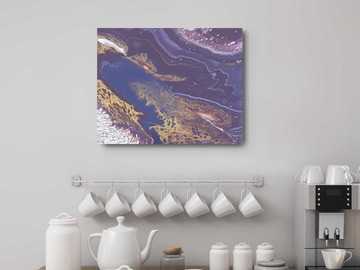 Selling with online payment: Purple Painting Wall Decor