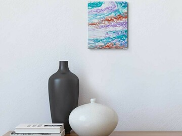 Selling with online payment: SALE: Small Colorful Art Painting