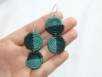 Selling: MISMATCHED | Spiral Macrame Earrings