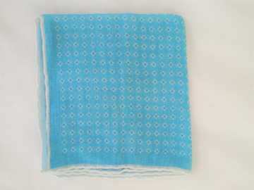 Online payment: Hand rolled linen and cotton pocket square - Calabrese