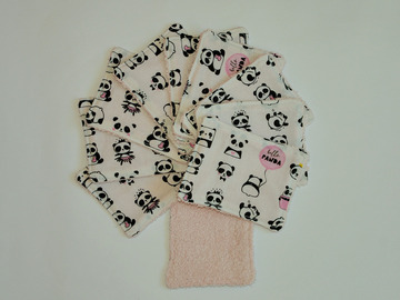 Vente au détail: Lot de 10 - lingettes lavables - Petit Panda