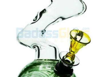 Post Now: Mini Zong Blue Green Glass 7""