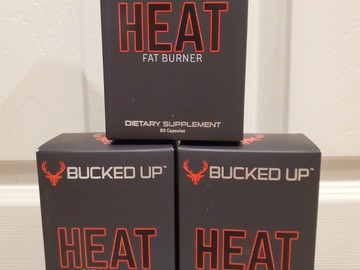 Buy Now: Bucked Up Heat Fat Burner. Lot of 10 boxes.