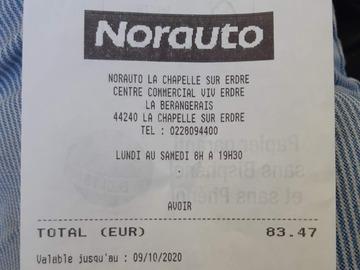 Vente: Avoir Norauto (83,47€)