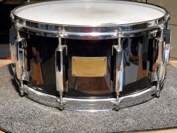 Selling with online payment: Pearl Custom Classic One Piece 6.5 x 14 snare drum - rare vintage