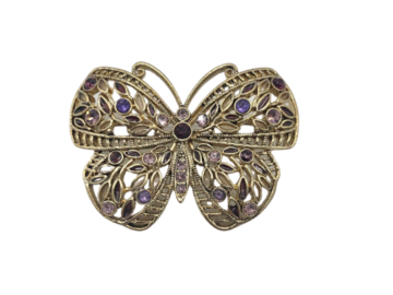 Buy Now: 24 Butterfly Brooches w/ Swarovski Crystals - Excellent Quality
