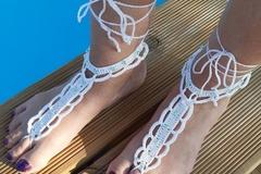 Vente au détail: Bijoux de pieds perles nacrées vertes
