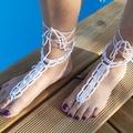 Vente au détail: Bijoux de pied perles nacrées parme