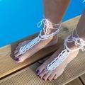 Vente au détail: Bijoux de pied perles nacrées jaunes