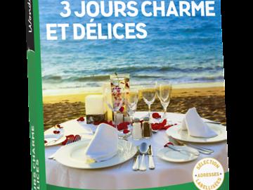 """Vente: e-Coffret Wonderbox """"3 jours charme et délices"""" (229,90€)"""