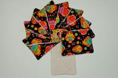 Vente au détail: Lot de 10 - Lingettes lavables - hiboux tout en couleur