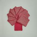 Vente au détail: Lot de 10 - lingettes lavables - rose aux étoiles noires