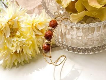 : Euthenia Goldstone Cuff Bracelet