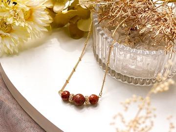 : Euthenia Goldstone Pendant Necklace