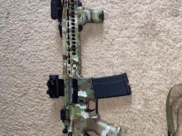 "Selling: DYTAC MK4 SMR 14.5"" Black Jack M4 Carbine Airsoft AEG Rifle Multi"