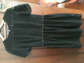 Selling: Sylvester sweet black sheer dress with studs