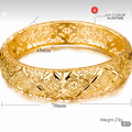 Buy Now: Luxury 24k Gold Color Ethiopian Jewelry Bangles For Women Dubai R