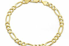 Buy Now: 24 Pieces 14 KT Heavy Gold Plate Cuban Link  Bracelets 8.5 Inches