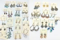 Buy Now: 100 Pair Designer Brand Earrings w/ Crystal Stones - No Two Alike
