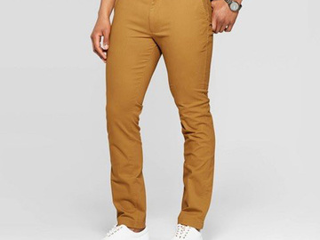 Buy Now: 30 Pairs New Slim Chino Mens Pants by Goodfellow & Co. $690 Value