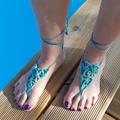 Vente au détail: Bijoux de pied bleu vert