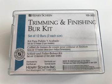 Gebruikte apparatuur: Henry Schein Trimming & Finishing Bur Kit